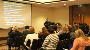 Prof Maher Gandhi presents on genetic susceptibility research