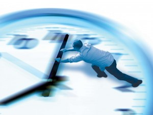 Man clock time speeding up slowing down concept_oncology news australia