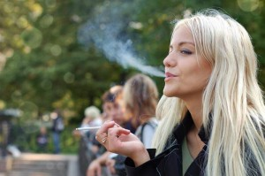 blonde smoking woman oncology news australia