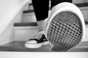 climbing stairs descending stairs woman shoe close up_oncology news australia