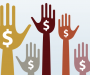 crowdfunding hands