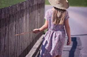 girl portrait stick fence_child childhood cancer_oncology news australia