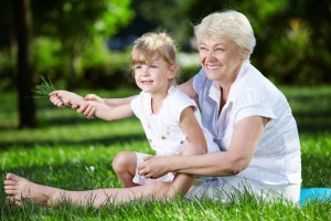 grandmother and grandchild in park_oncology news australia