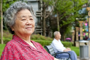 happy senior older woman asian 80s portrait_oncology news australia