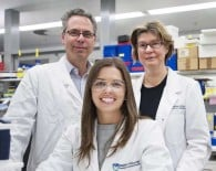 Professor Geoff Lindeman, PhD student Ms Emma Nolan and  Professor Jane Visvader have discovered a potential new way to prevent breast cancer in some at-risk women.