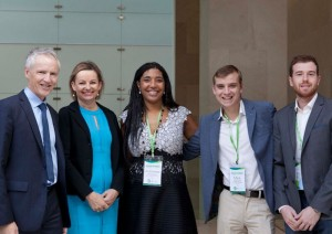 L-R CanTeen CEO Peter Orchard, Federal Health Minister Sussan Ley, Dr Antoinette Anazodo, Youth Advisory Group members Mark Haseloff and Keifer King