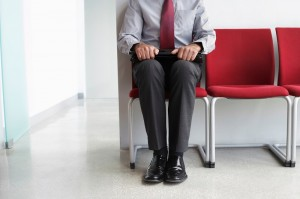 man in waiting room_oncology news australia