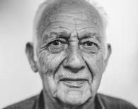 man senior black and white portrait_oncology news australia