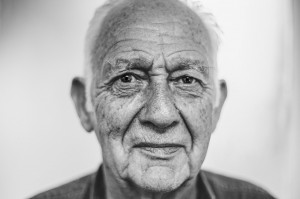 man senior black and white portrait_oncology news australia