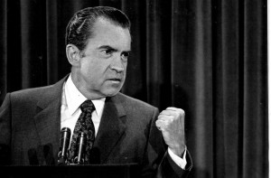 Richard Nixon at a news conference