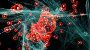 particles abstract glass stands molecules_oncology news australia
