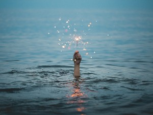 sparkler in the water sos miracle concept_oncology news australia