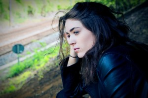 teenage girl outdoor sad lonely depressed suicide AYA_oncology news australia