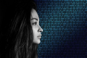 woman code binary code data concept_oncology news australia