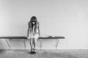 young woman black and white portrait_pain, anxierty, tired, stressed_oncology news australia